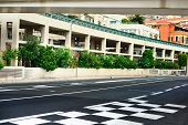 Starting Grid And Pit Lane Asphalt Monaco Race Grand Prix Circuit
