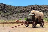 image of wagon  - This is a wagon at historical Fort Davis in West Texas - JPG