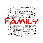 foto of niece  - Family Word Cloud Concept in red caps with great terms such as loving parents home and more - JPG