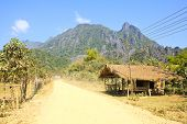On A Rural Road ,vang Vieng ,laos.