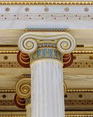 pic of ionic  - colorful classical Ionic column capital close up - JPG