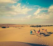 foto of camel  - Vintage retro hipster style travel image of Rajasthan travel background  - JPG
