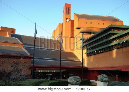 Clocktower Of The British Library, Euston, London, England, Uk