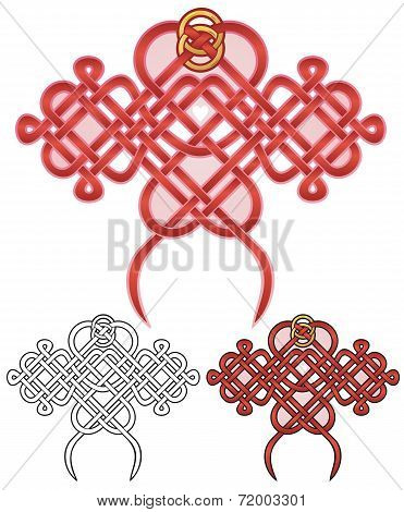 Love Knot With Two Rings