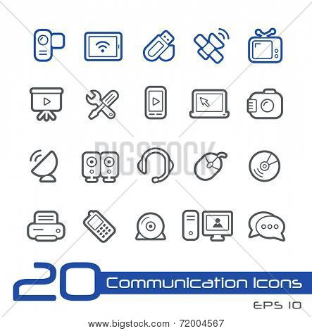 Communication Icons // Line Series