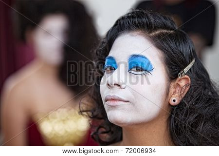 Confident Female Circus Performer