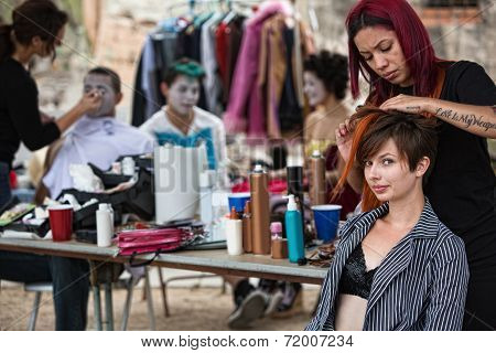 Fixing Performers' Hairdo
