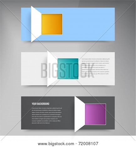 Vector bsnner squares. Set web design