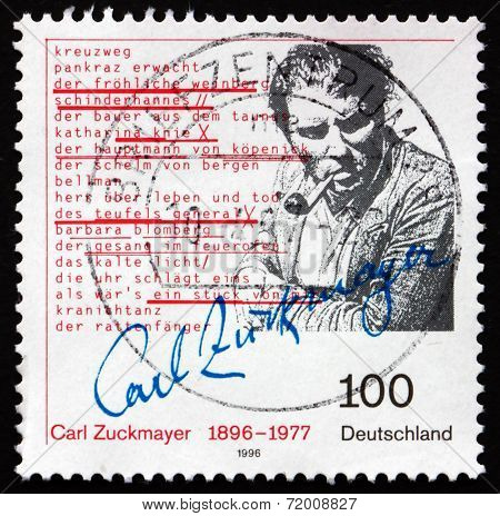 Postage Stamp Germany 1996 Carl Zuckmayer, Writer