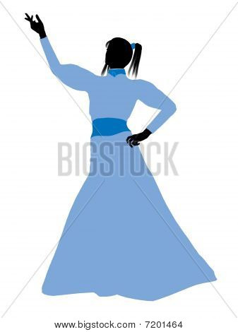 Wendy of Peter Pan Silhouette Illustration
