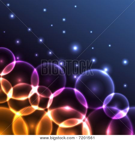 Abstract glowing circles background