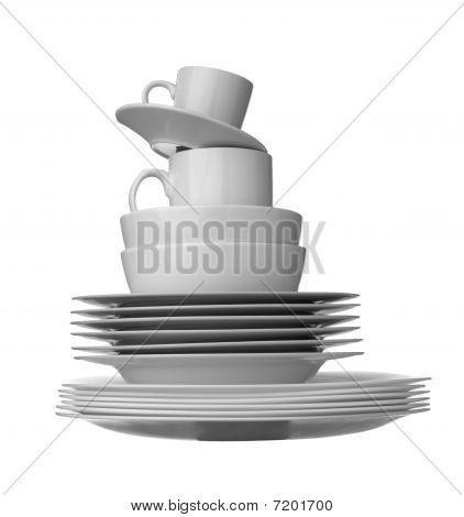 White Dishes Kitchen