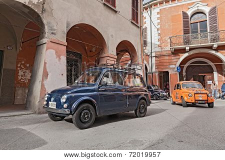 Vintage Italian Car Autobianchi 500 Giardiniera
