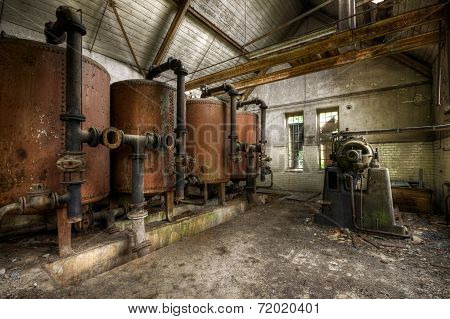 Interiors of an abandoned factory
