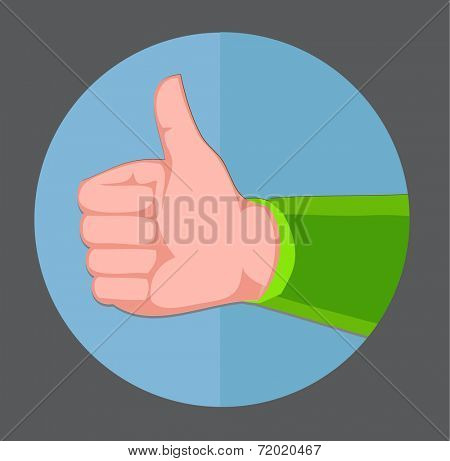 thumb up gesture - flat design vector