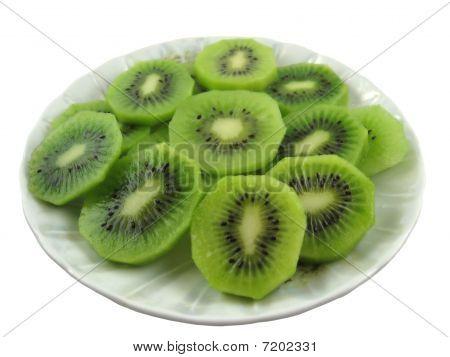 Kiwi served on plate