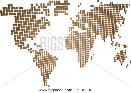Perspektive-Mosaik-Karte