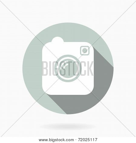 Camera Vector Icon With Flat Design