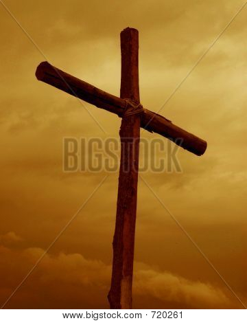 Cross In Orange Sky