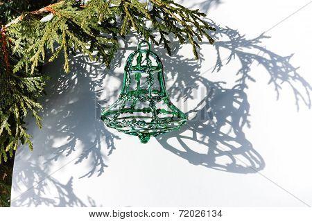 Green Christmas Bell