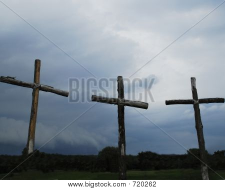 Three Stormy Crosses