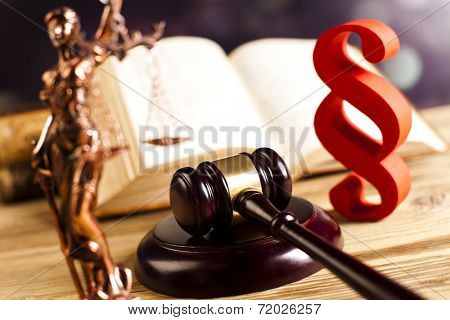 Law and justice concept, paragraph