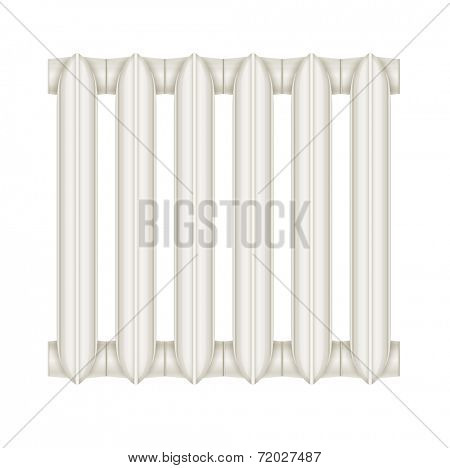 Cast-iron radiator for heating systems. Eps10 vector illustration. Isolated on white background