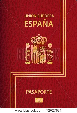 vector biometric Spanish passport