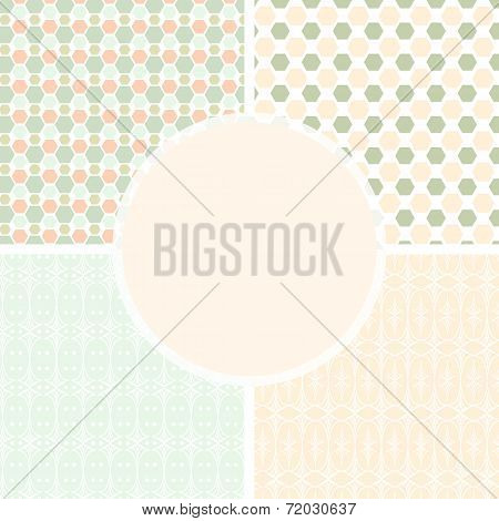 Shabby Chic Patterns And Seamless Backgrounds