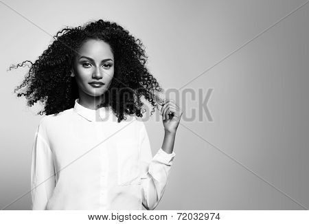 Bw Portrait Of A Woman