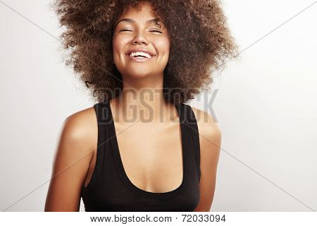 Beauty Girl With An Afro Hair