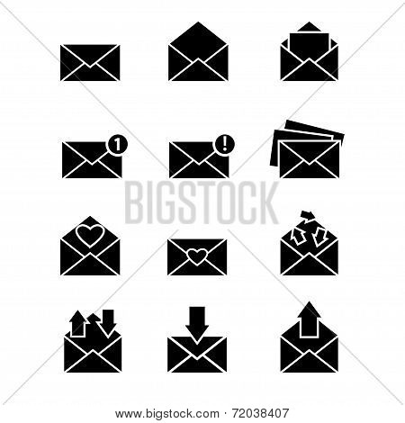 Vector simple designed message icons set