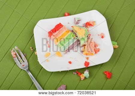 Messy Placemat After Eating Cake