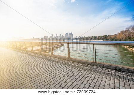 cityscape, skyline in suzhou china.