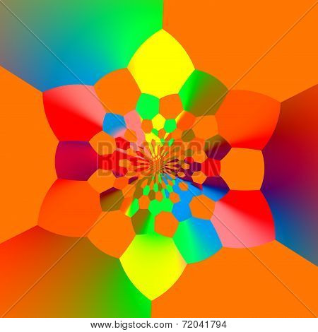 Abstract Colorful Orange Rainbow Colored