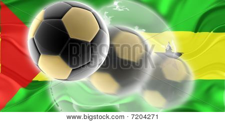 Flag Of Sao Tome And Principe Wavy Soccer Website