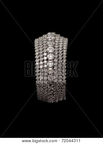 Close up of diamond bracelet