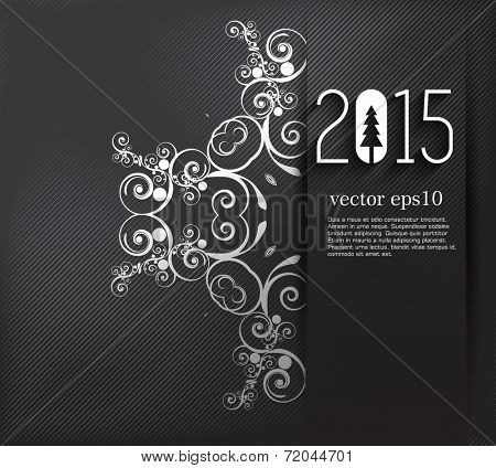 Original 2015 happy new year background
