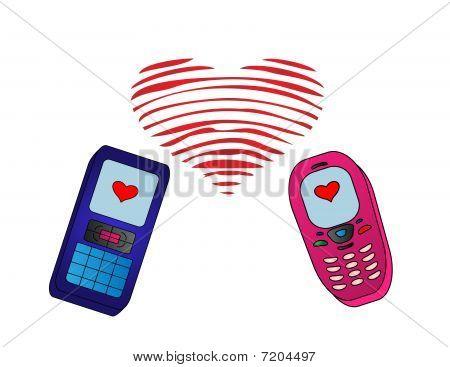 Phones-enamoured Isolated.eps