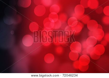 Red Abstract Blurred Background, Bokeh