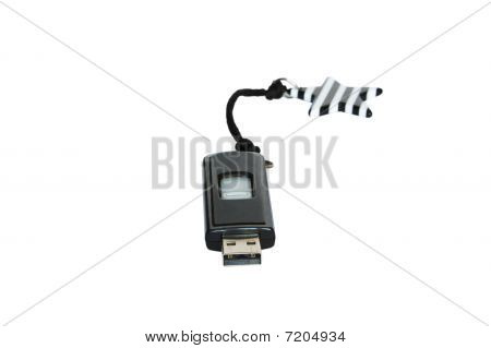 Usb Key With Star Isolated
