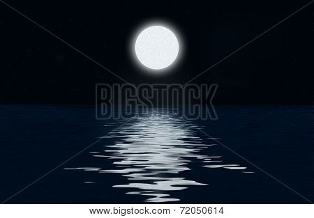 The Moon And The Moonlit Path