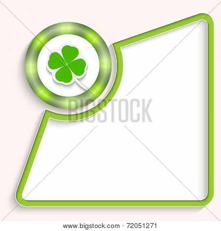 Abstract Frame For Any Text With Cloverleaf