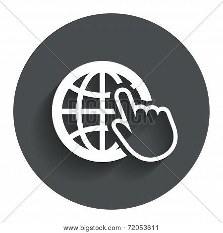 Internet sign icon. World wide web symbol.