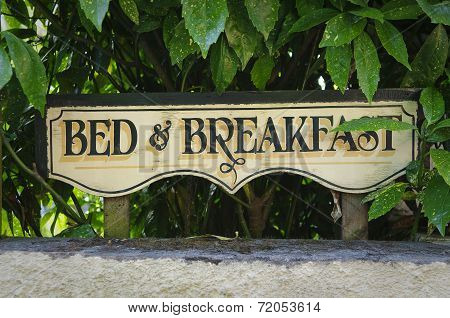 Bed And Breakfast Vintage Sign