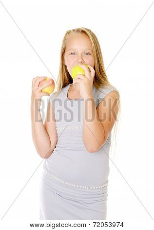 Girl with an apples