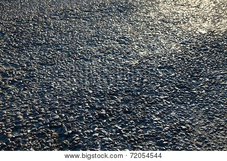 Asphalt surface closeup