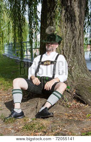 Bavarian Man Sleeping