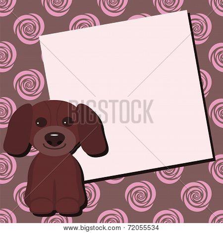 card with nice dog