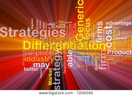 Differentiation Strategies Background Concept Glowing